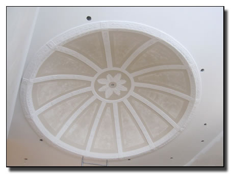 Completion of circular dome with mutiple arches