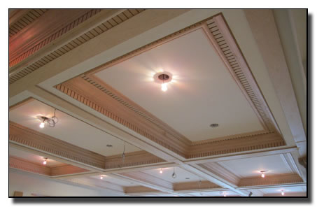 Completion of square dome with crown molding